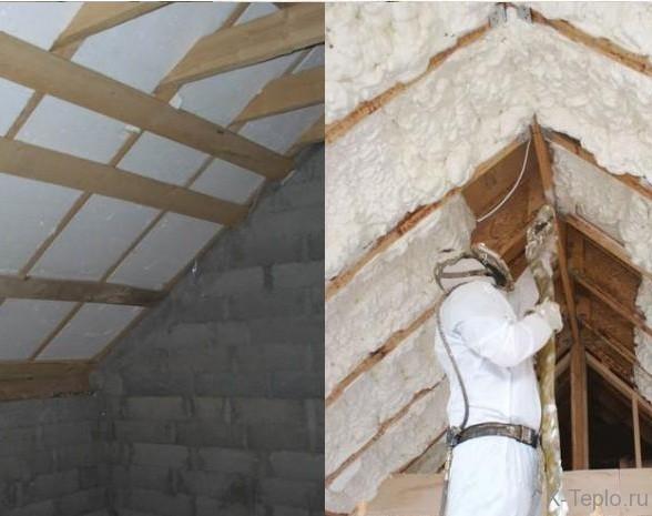 Технология утепление крыши и кровли пенопластом – видео инструкция
