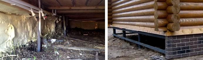 Утепление пола в деревянном доме на сваях: фото и видео