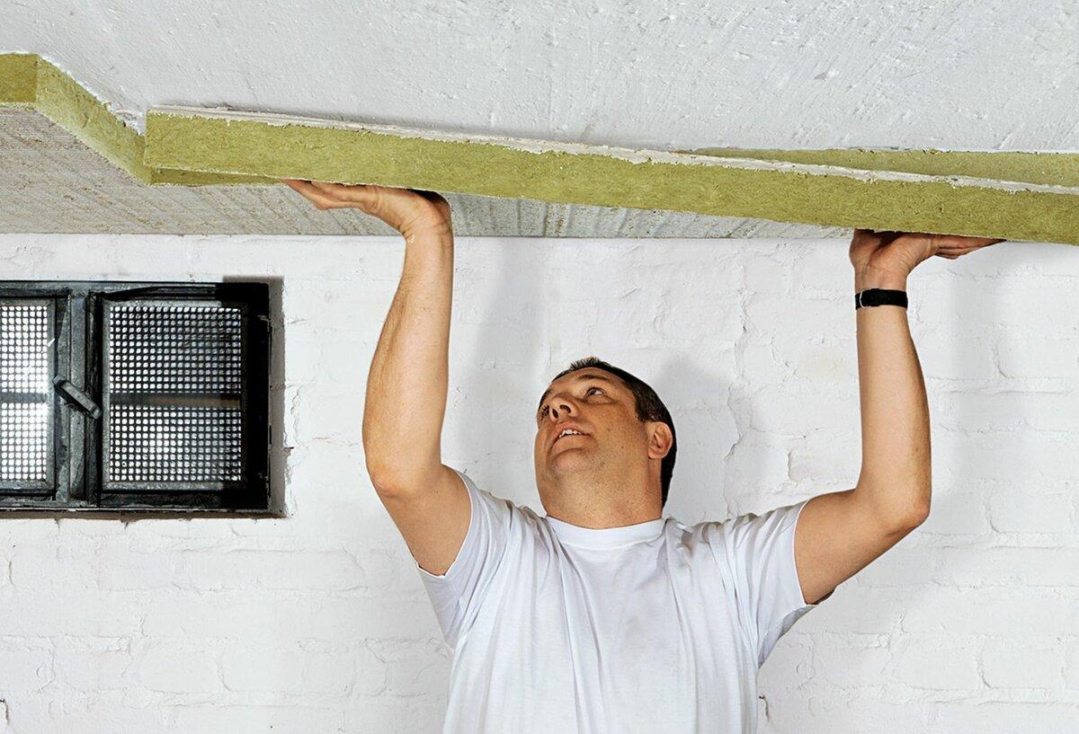 Утепление бетонного потолка своими руками (26 фото)