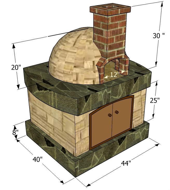 Помпейская печь для дачи своими руками - сделай сам