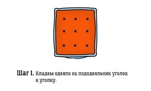 Как быстро заправить одеяло в пододеяльник - iloveremont.ru