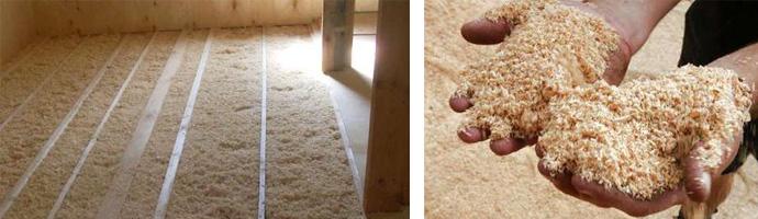 Как утеплить пол опилками в частном доме