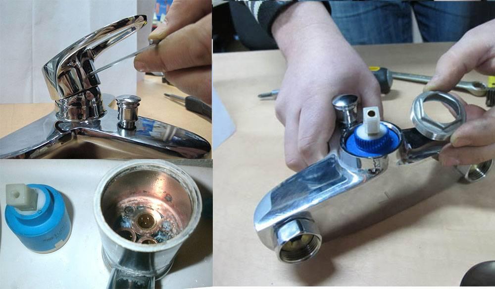 Замена картриджа в смесителях своими руками, устройство