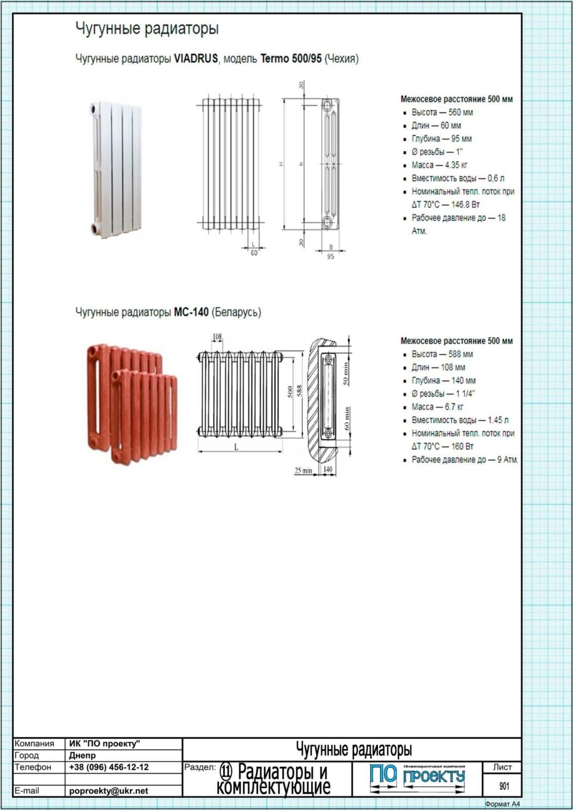 Вес чугунной батареи на 1 секцию: сколько весит одна часть радиатора для отопления старого образца, варианты из 7, 8 и 10 звеньев