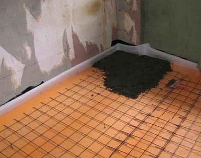 Утеплитель пола по бетону: под стяжку, пирог пола + видео