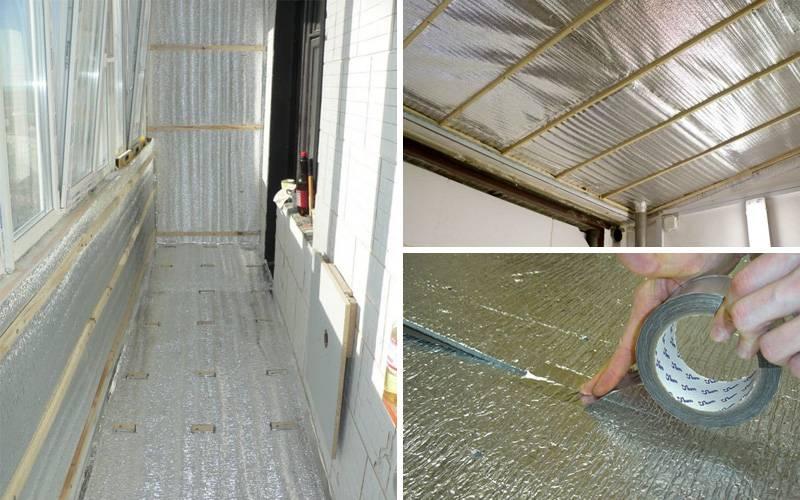 Как правильно утеплить лоджию и балкон пенофолом фольгированным?