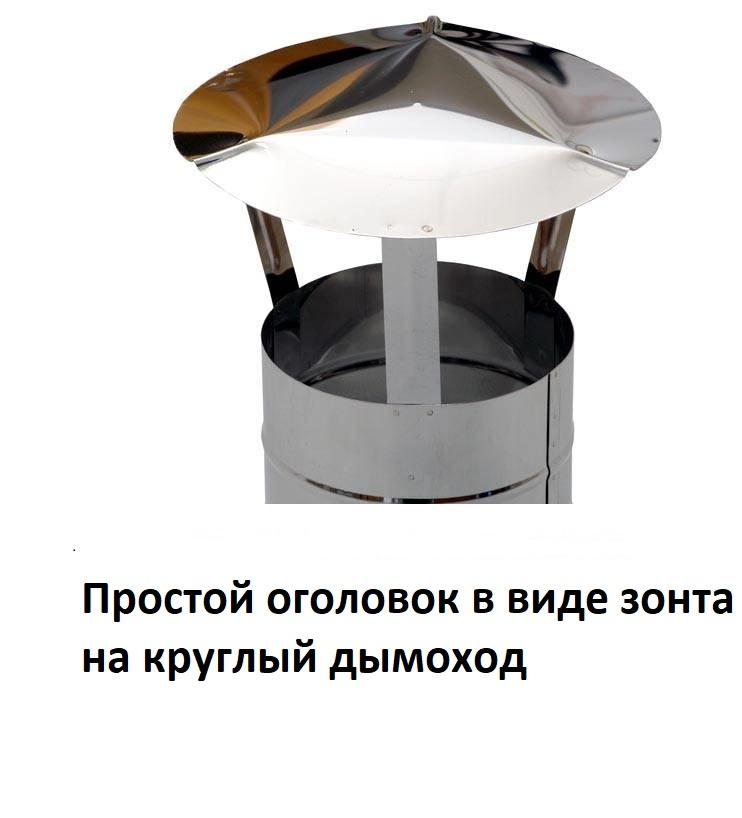 Грибок (дефлектор) на трубу дымохода своими руками — чертежи и формула расчета