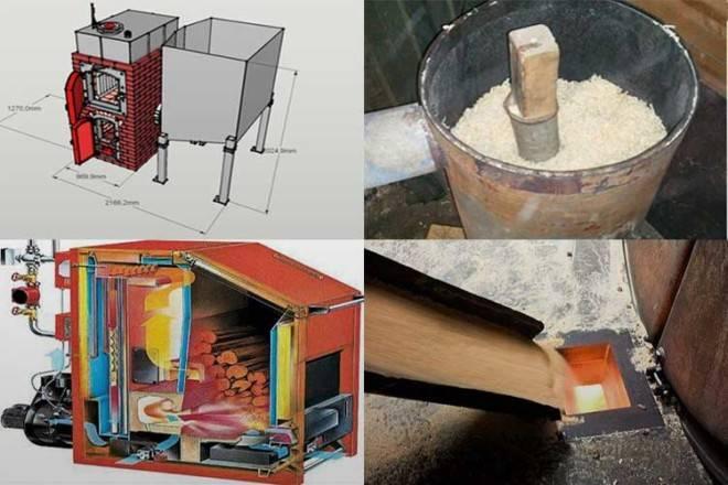 Печь на опилках длительного горения: устройство, принцип работы и чертежи