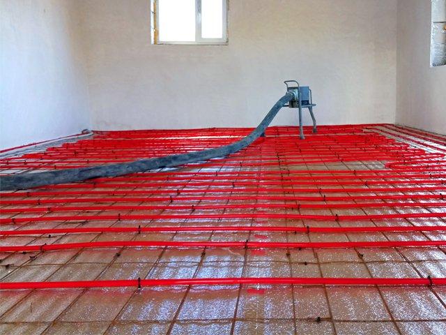 Стяжка на теплый водяной пол: выбор толщины и востребованные способы устройства