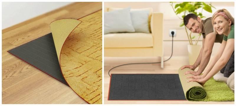 Стоит ли стелить ковер на теплый пол?