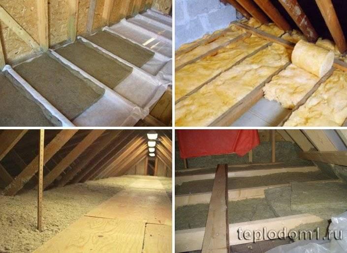 Как утеплить потолок в доме с холодной крышей