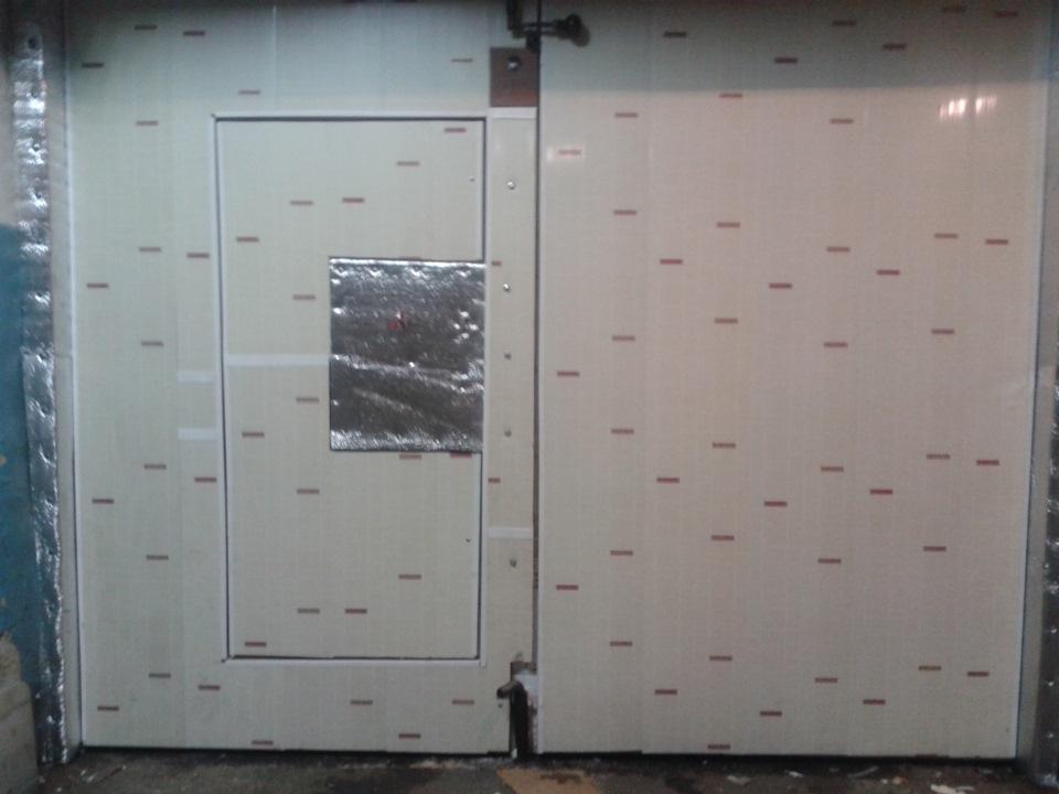 Утепляем гаражные ворота своими руками изнутри