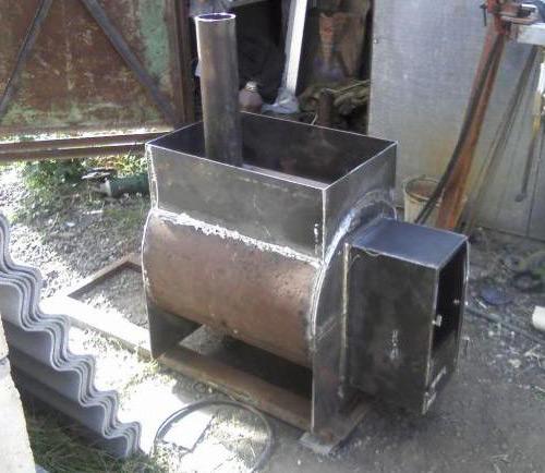 Как сделать печь для бани из трубы своими руками