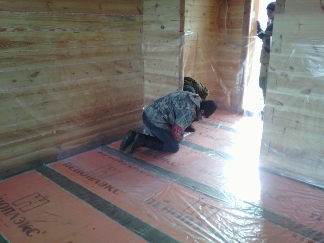 Утепление пола пеноплексом: секреты укладки на бетонный и деревянный пол