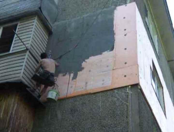 Фасадная штукатурка по пенопласту: технология отделки и нанесения шпаклевки на фасад дома по утеплителю