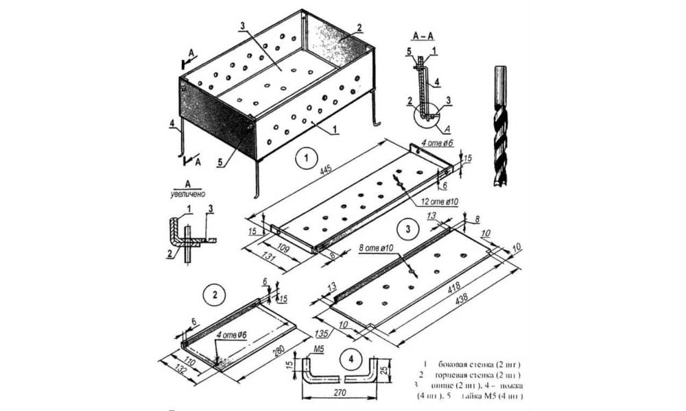 75 моделей мангала своими руками: чертежи, инструкции