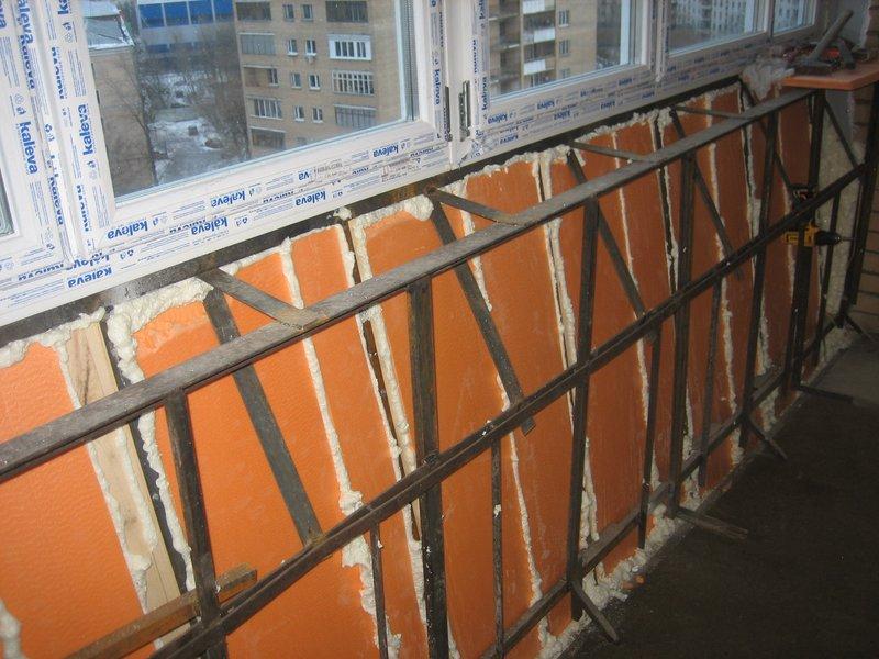 Инструкции по укреплению и утеплению парапета балкона