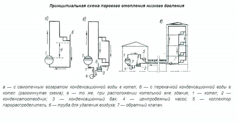 Схема парового отопления частного дома, выбор и монтаж
