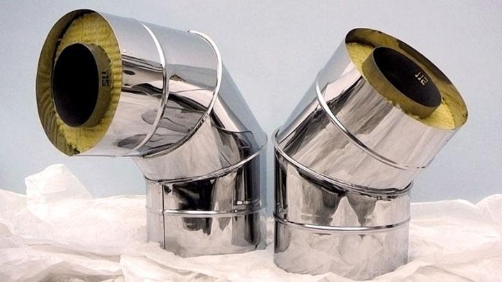 Оцинкованная стальная труба для обустройства дымохода
