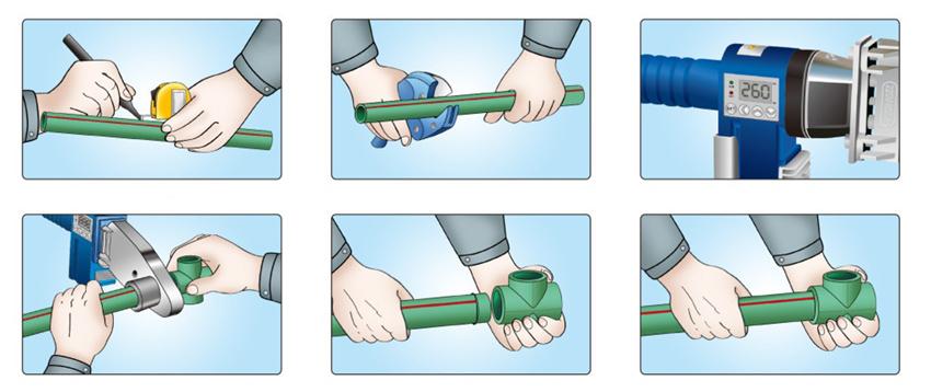 Пайка труб из пластика – краткая инструкция
