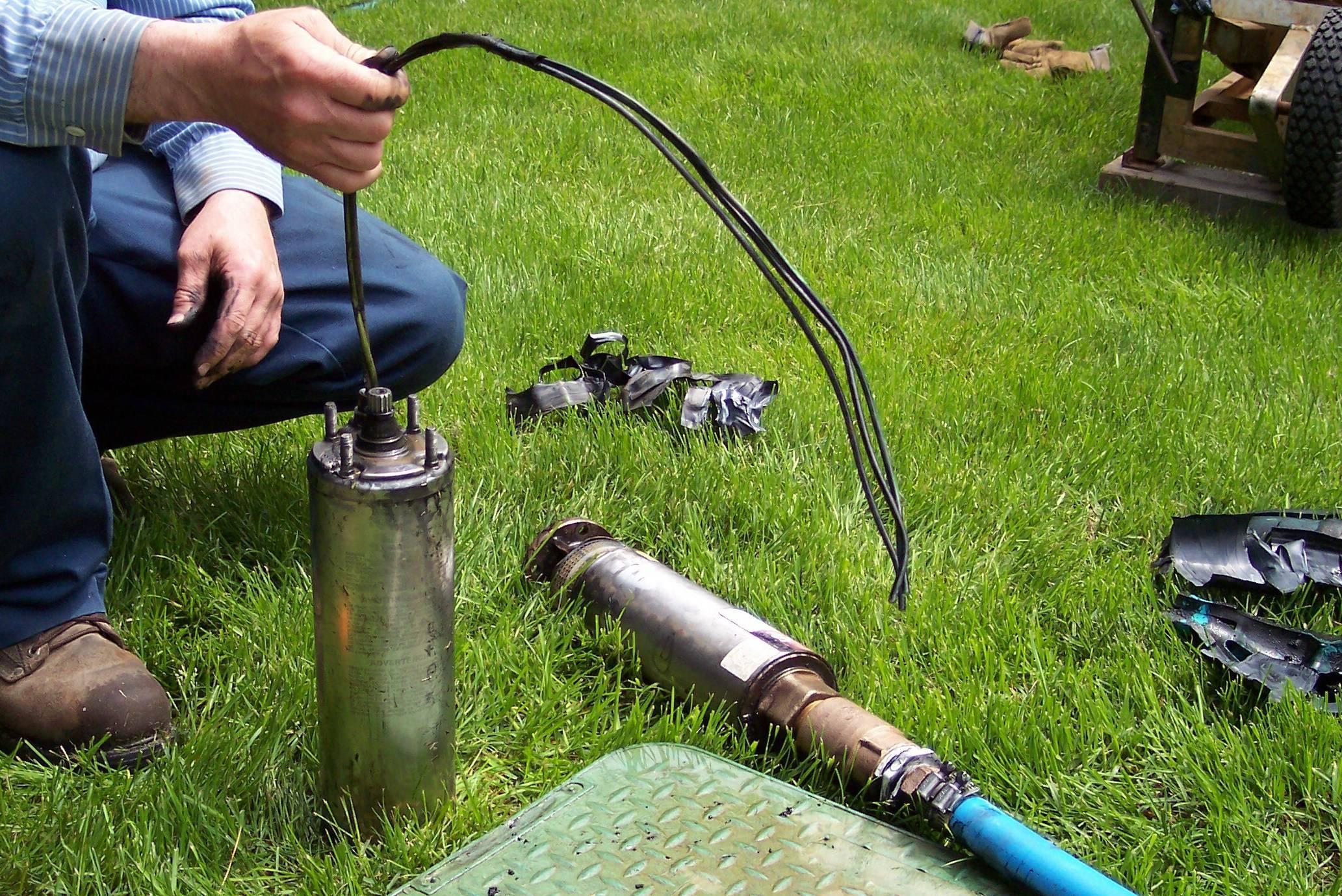 Застрял насос в скважине: как достать, если упал, как вытащить, если он застрял в трубе, что делать - глубинный вариант оторвался