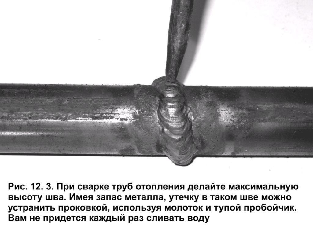 Сварка водопроводных труб под давлением