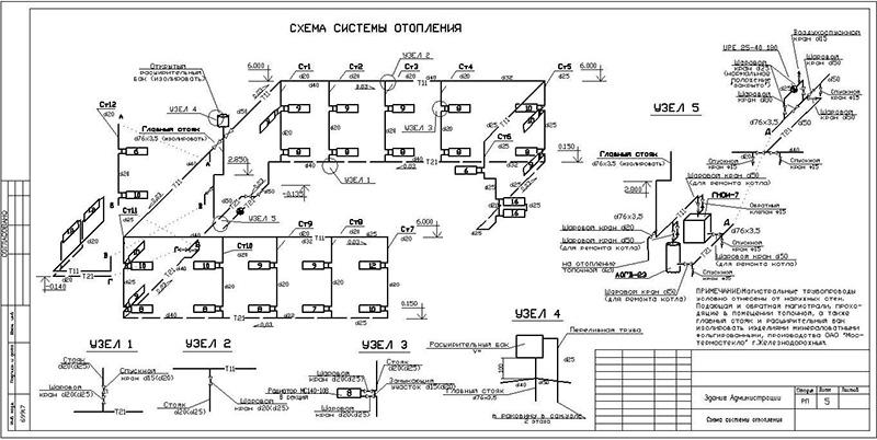Аксонометрическая схема отопления - pechiexpert