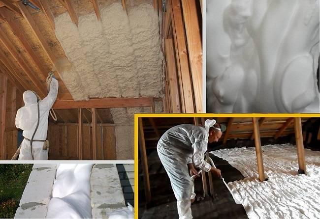 Как правильно утеплять потолок, расположенный под холодной крышей: минеральная вата, пенопласт и пеноизол