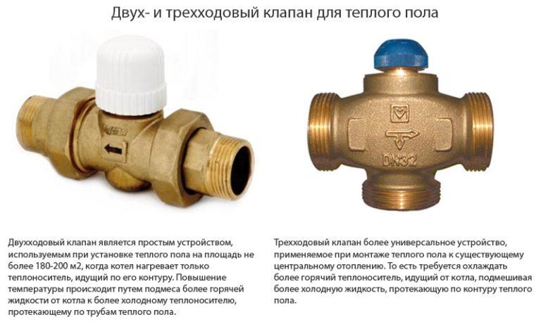Как выбрать термостатический клапан для тёплого пола?