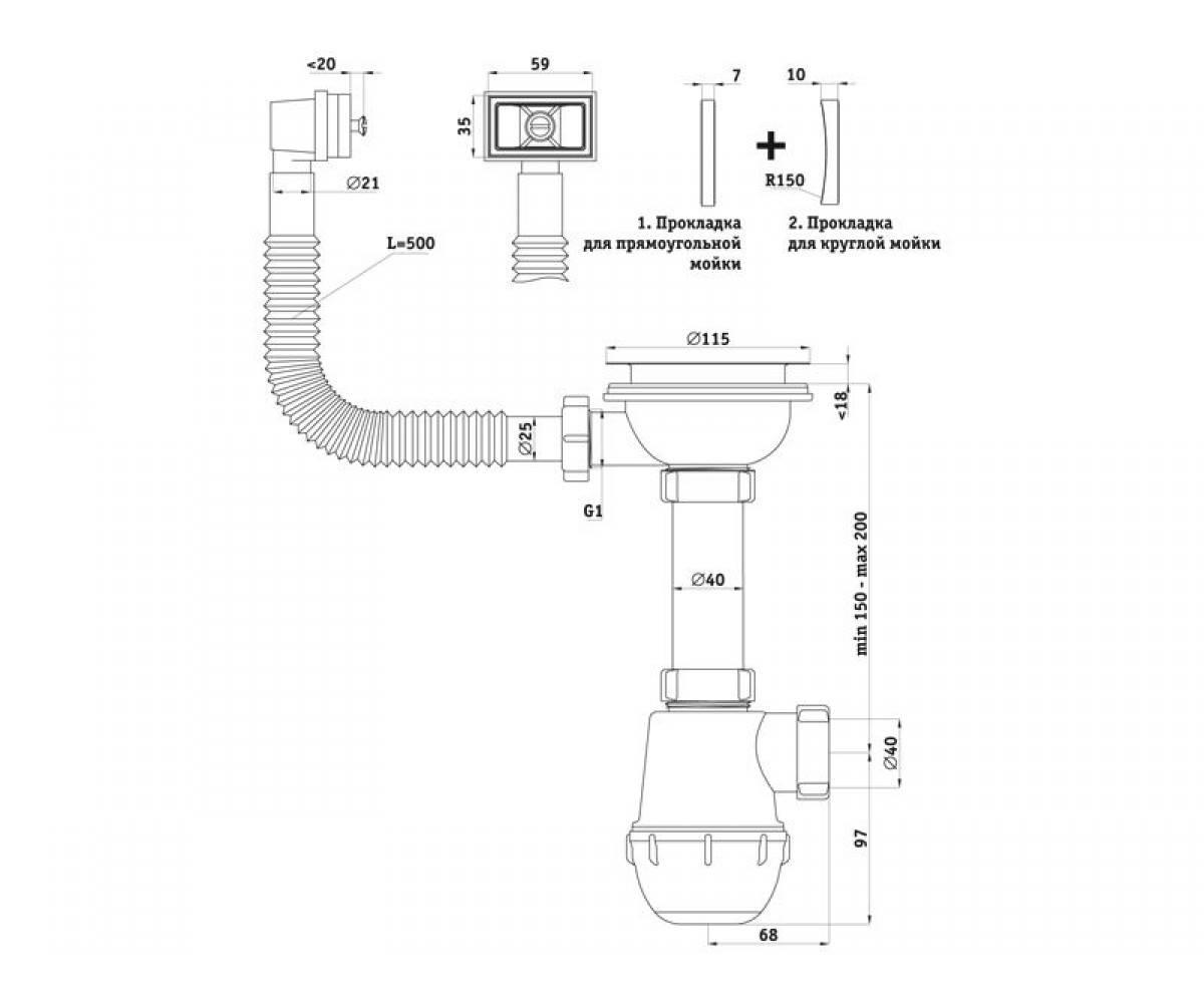 Сифоны для раковин на кухню: критерии выбора и процесс установки