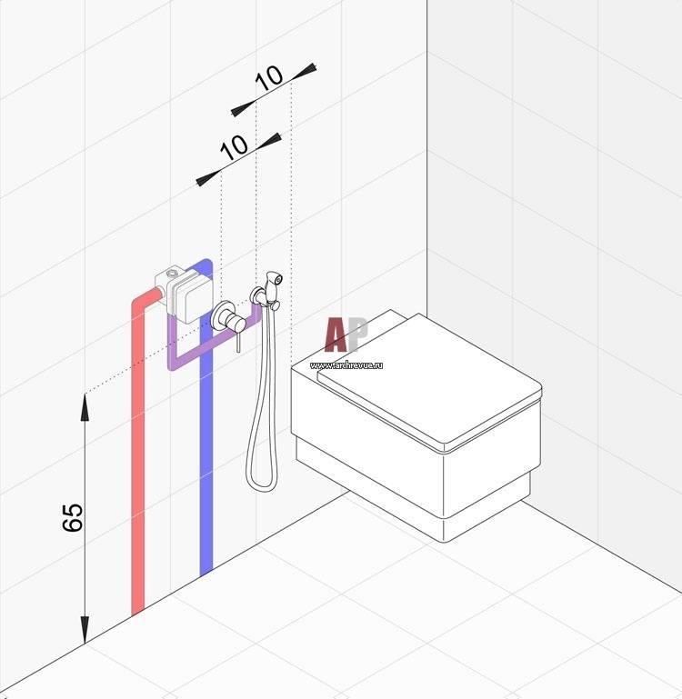 Установка гигиенического душа (38 фото): как установить в туалете своими руками смеситель настенного монтажа, высота размещения, как правильно подключить