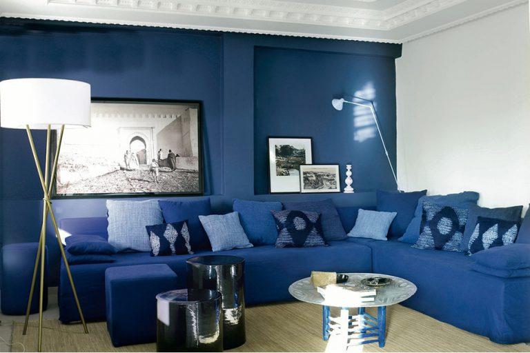 Синий цвет в интерьере - 126 фото примеров