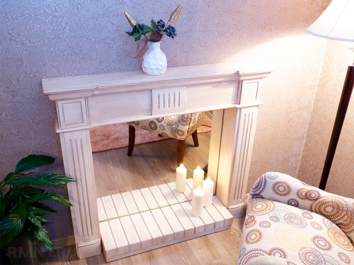 Фальш-камин своими руками, строительство имитации камина в квартире