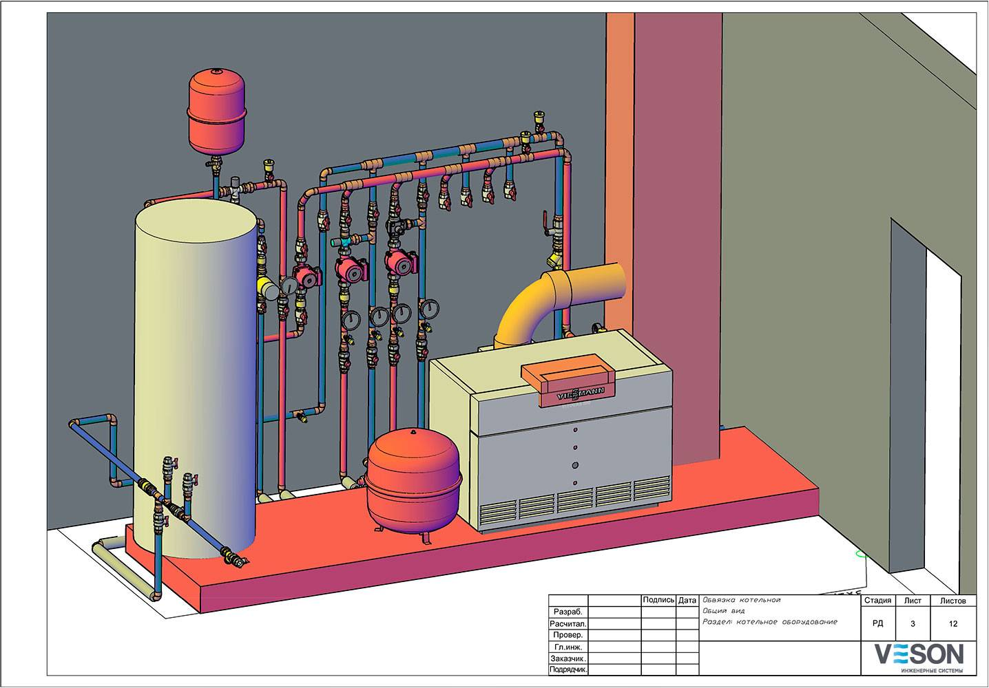 Отопление коттеджа своими руками: схемы, проекты