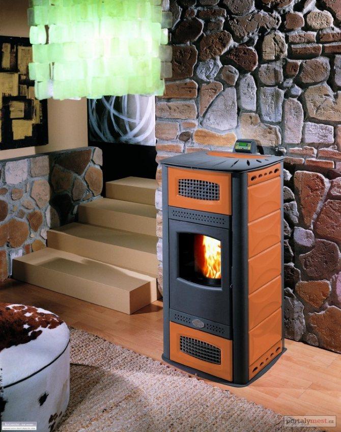 Комбинированный котёл отопления на газе и дровах