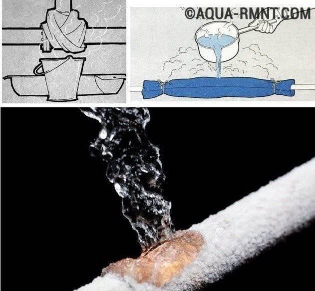 При какой температуре замерзает вода в трубах – боремся с проблемой замерзания