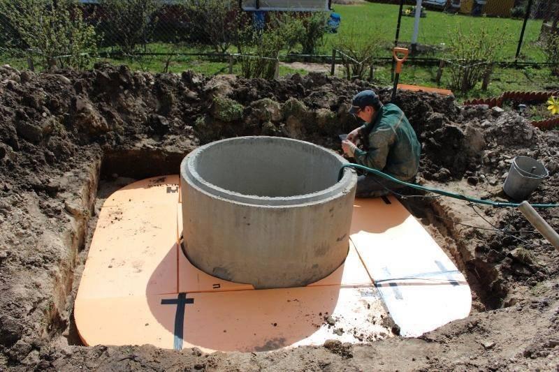 Утепление колодца из бетонных колец: причины замерзания и необходимые материалы
