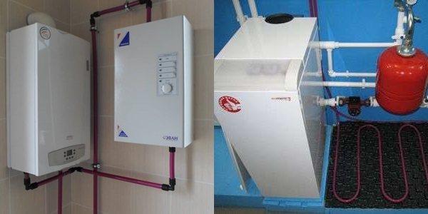 Электрический двухконтурный котел для водоснабжения и отопления дома