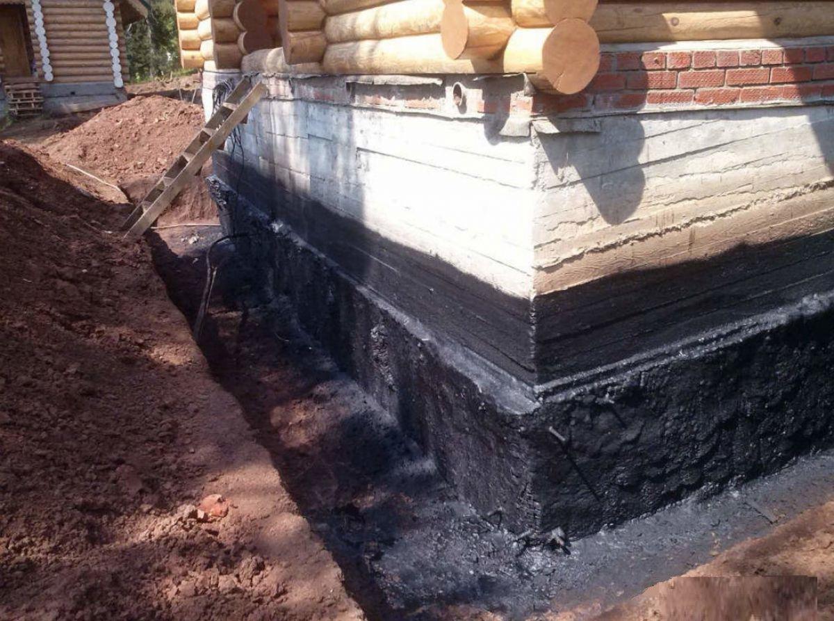 Гидроизоляция фундамента построенного дома