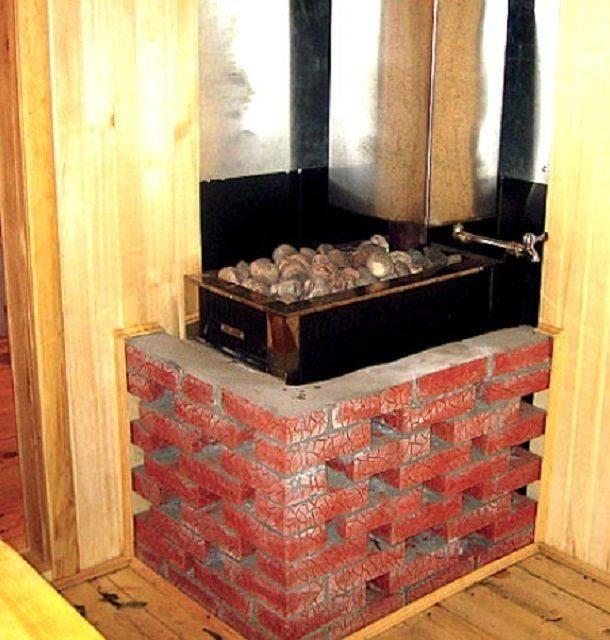 Как обложить металлическую (железную) печь кирпичом