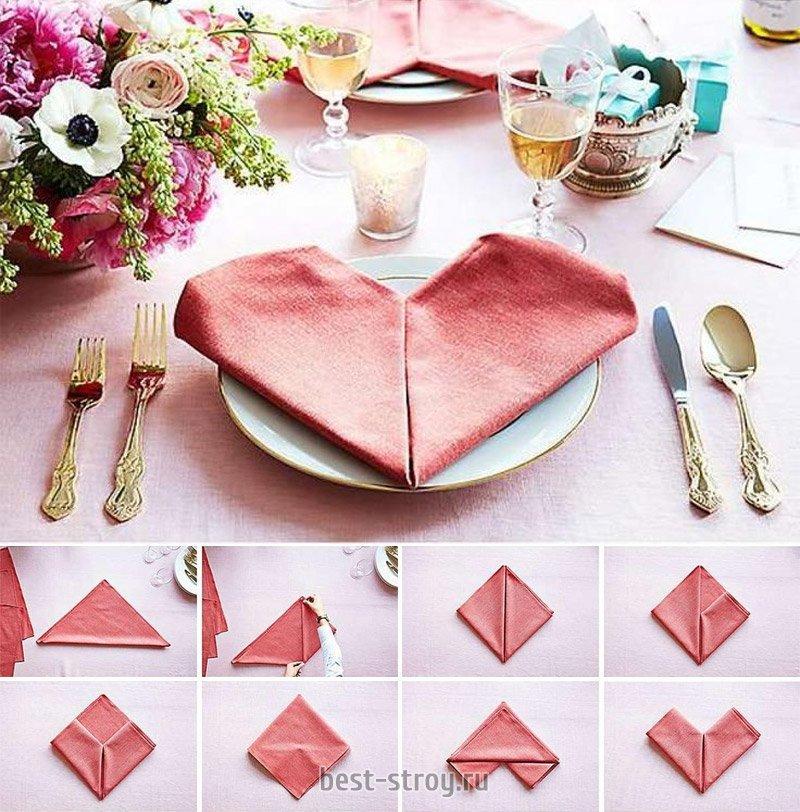 Как красиво сложить бумажную салфетку - схемы и пошаговые инструкции как красиво оформить стол. лучшие варианты сервировки салфетками своими руками (120 фото)