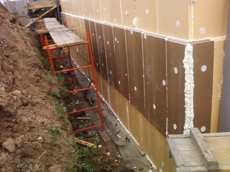 Утепление стен и пол подвала частного дома
