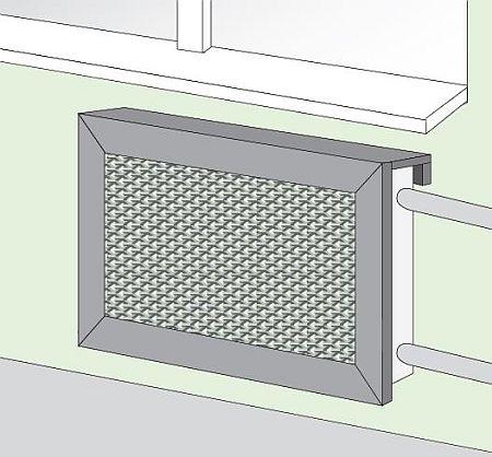 Создание экрана для батареи отопления своими руками
