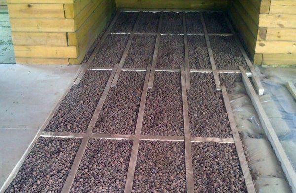 Утепление пола керамзитом в деревянном доме - инструкция по применению