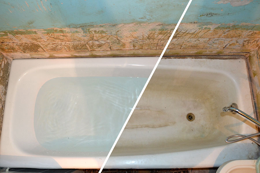 Реставрация ванн: как отреставрировать своими руками чугунную эмалью, стакрилом