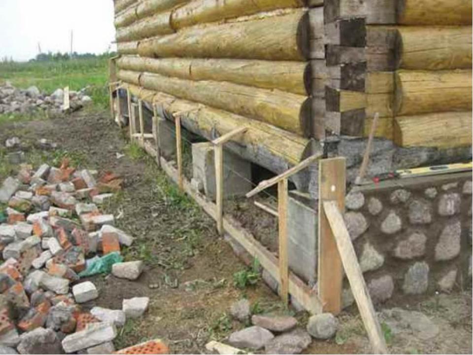 Утепление забирки для столбчатого фундамента - строим сами
