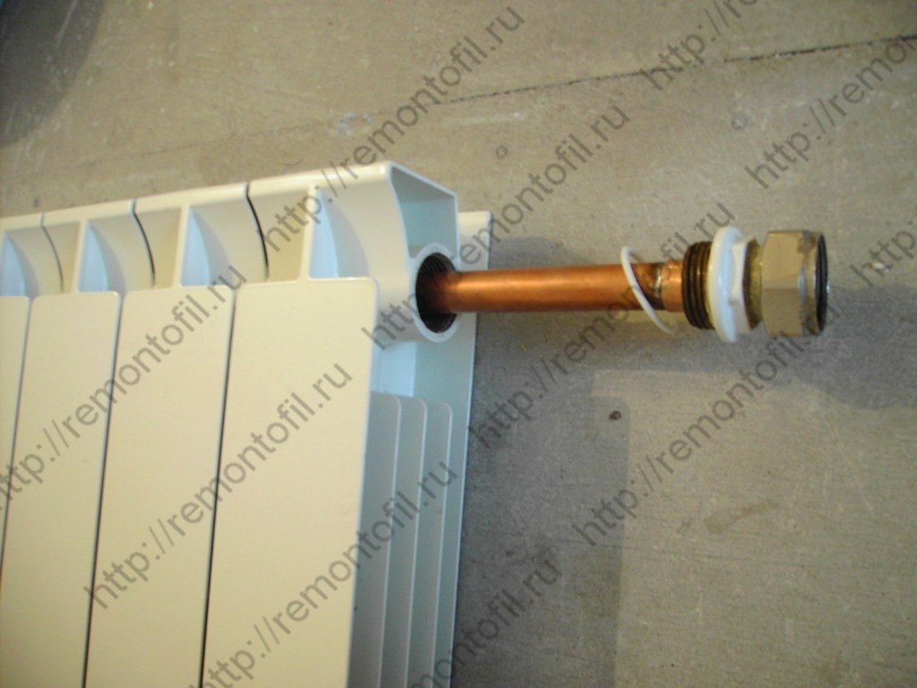 Как правильно установить удлинитель потока в радиатор