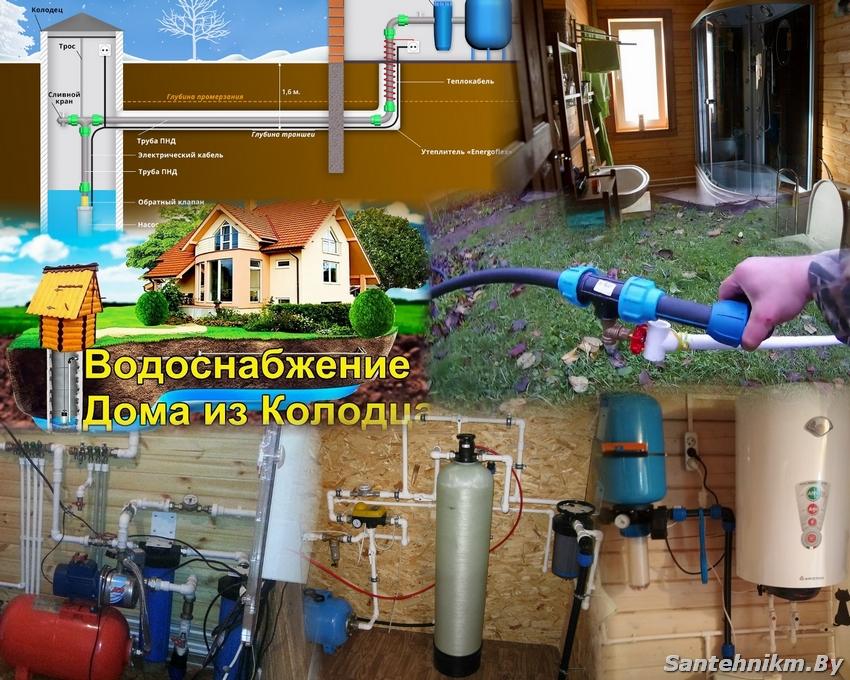 Водоснабжение загородного дома из колодца: специфика обеспечения частных домов колодезной водой