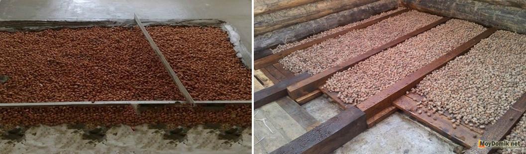 Как сделать утепление потолка керамзитом — инструкция