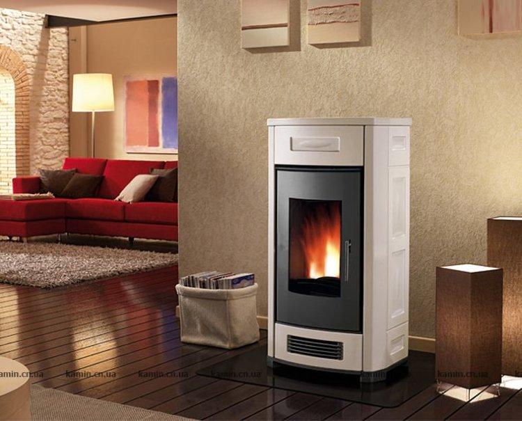 Отопление дома пеллетным камином